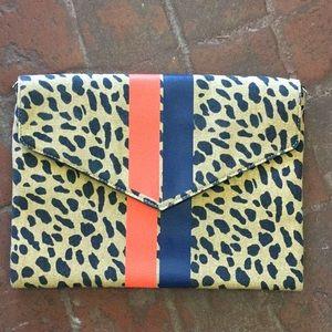 Stella & Dot Bellamy leopard clutch